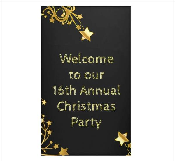 Christmas Party Vertical Banner