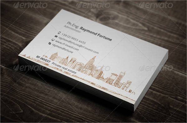 Classy Real Estate Business Card