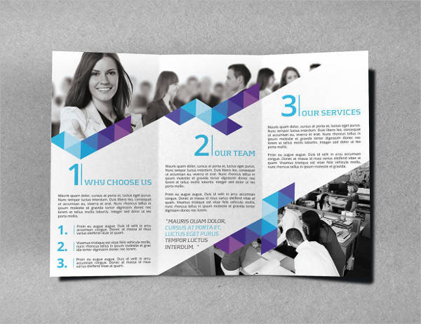 Clean Abstract Tri-Fold Brochure