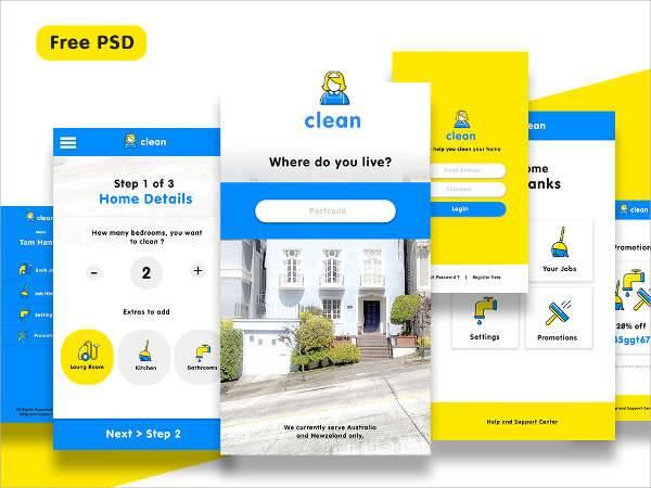 clean app ui design