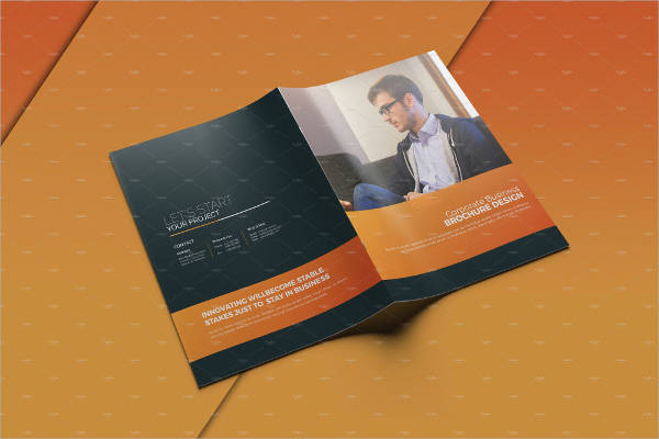 clean business brochure template