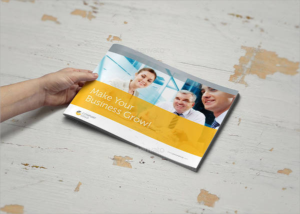 Clean Business Landscape Brochure