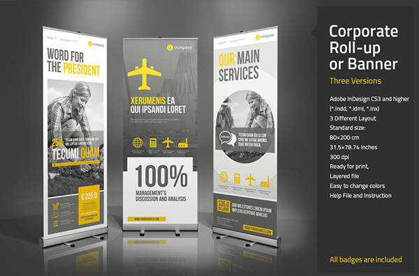 Clean Corporate Rollup Banner