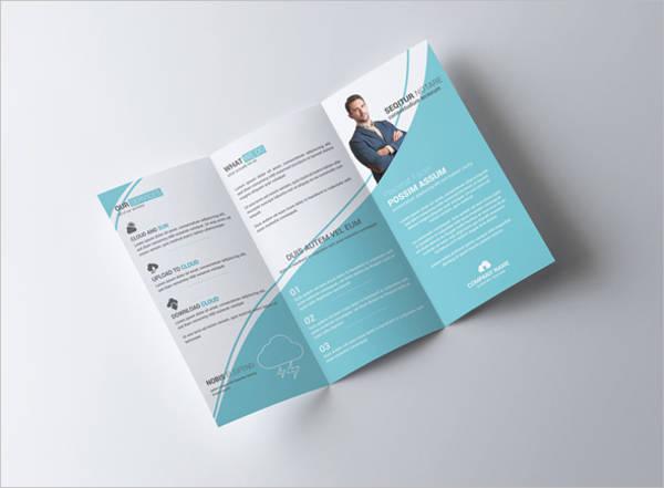 Clean Multipurpose Corporate Tri-fold Brochure
