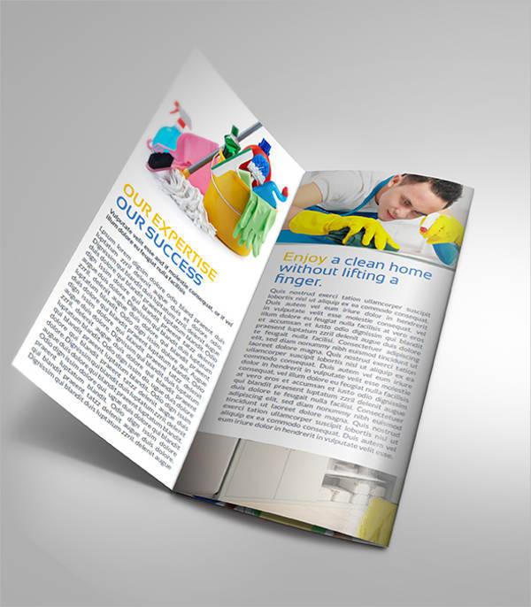 Clean Services Company Tri-fold Brochure