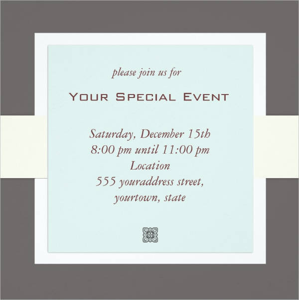 22 Event Invitation Designs – Business Event Invitation