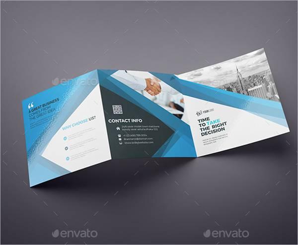 Clean Square Tri-Fold Brochure