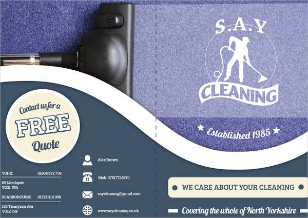 Cleaning Company A5 Brochure Design