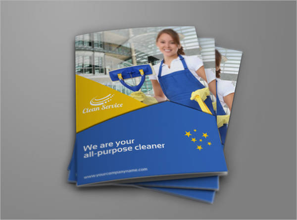 Cleaning Services Company Bi Fold Brochure