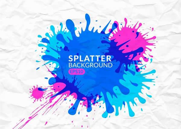 colorful vector splatter