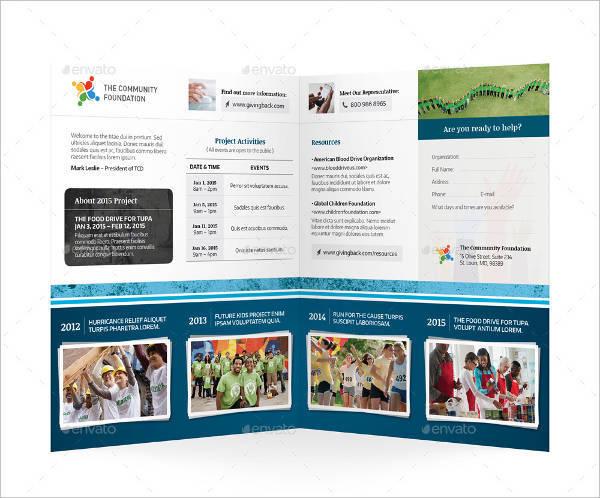 Community Service Bifold or Halffold Brochure