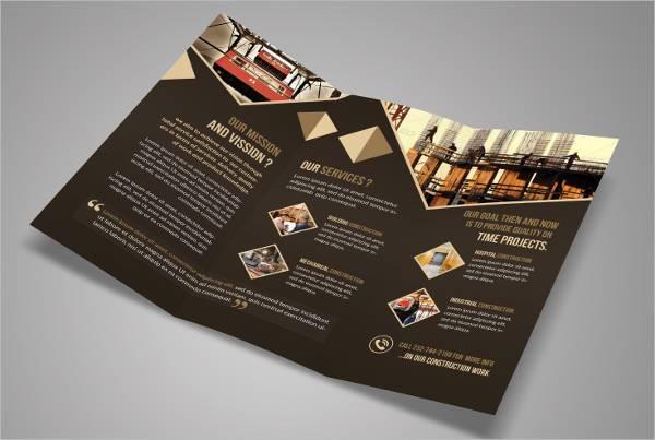 Construction Business Tri-Fold Brochure