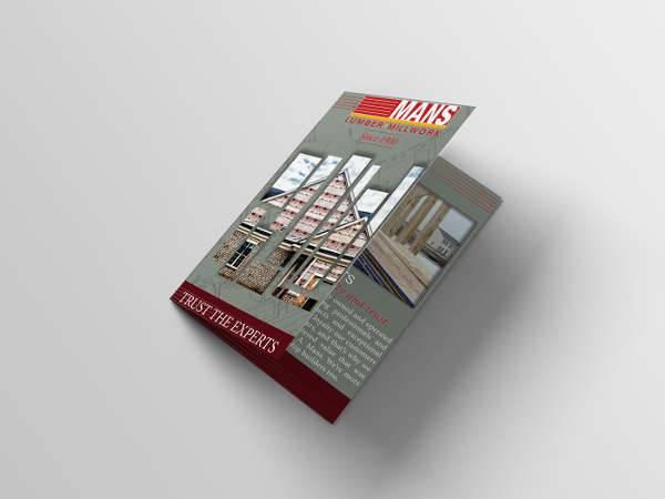 Construction Company Bifold Brochure