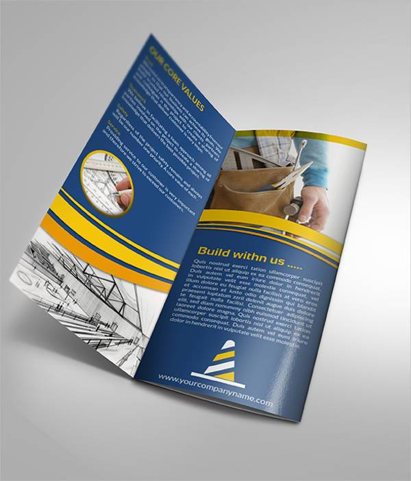 Construction Company Tri-Fold Brochure