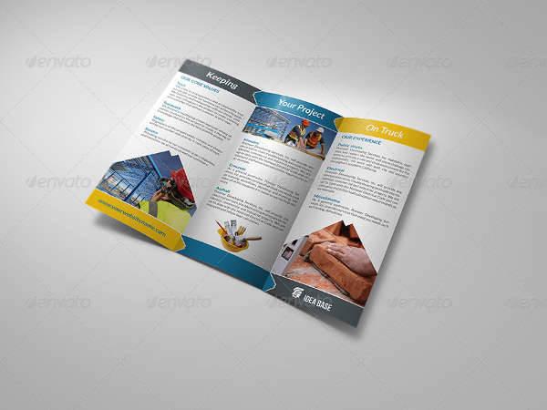 Construction Company Trifold Brochure