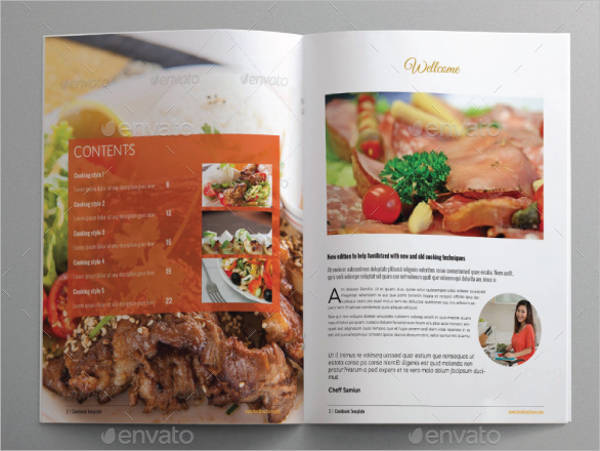Cookbook Food Brochure