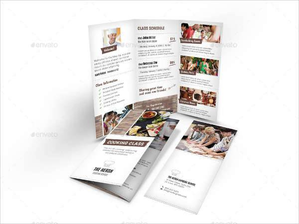 Cooking School Trifold Brochure