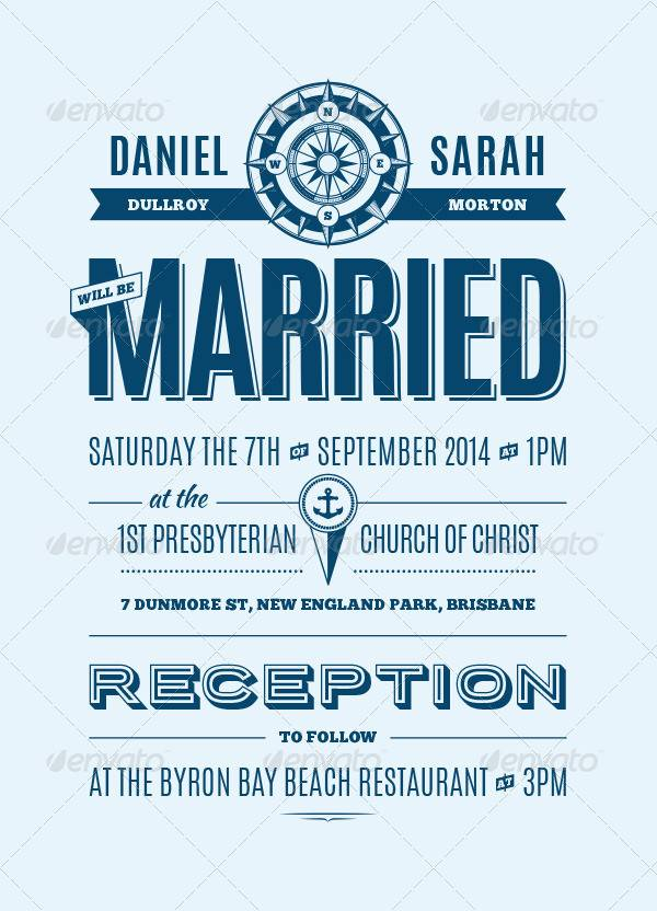 Cool Nautical Wedding Invitation