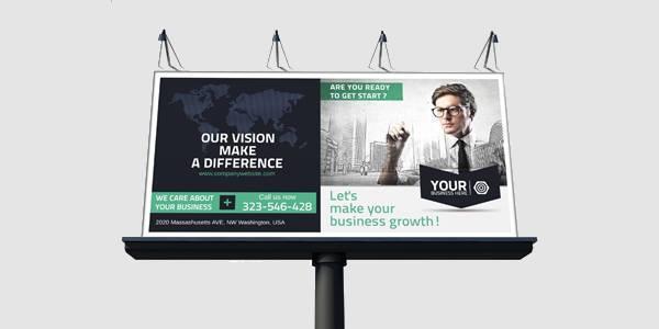 corporate billboard business banner