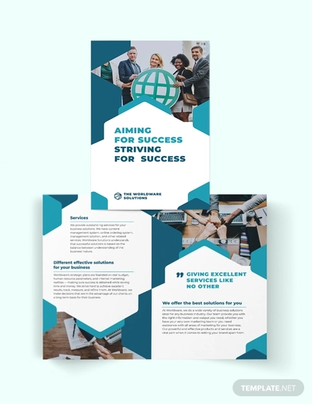 corporate company bi fold brochure