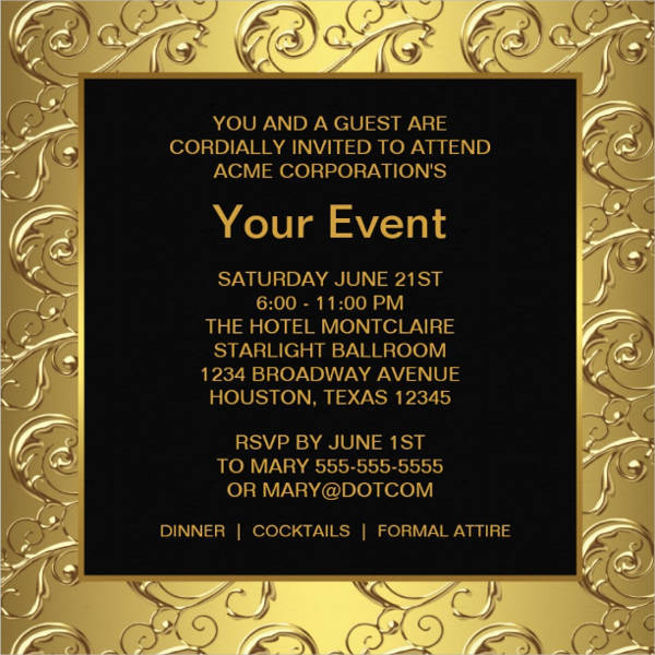 Corporate Event Invitation Card