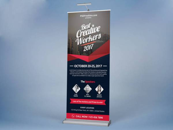 Corporate Event Roll Up Banner