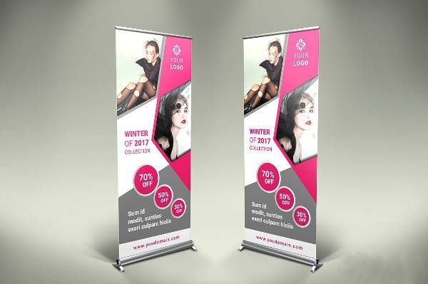 Corporate Fashion Roll Up Banner