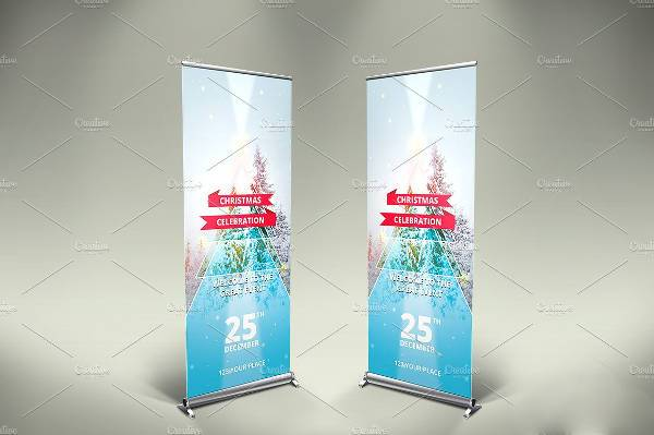 Corporate Holiday Roll Up Banner