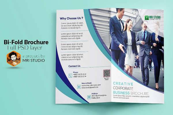 Corporate Marketing Bi-fold Brochure