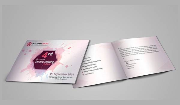 Corporate Meeting Invitation Card