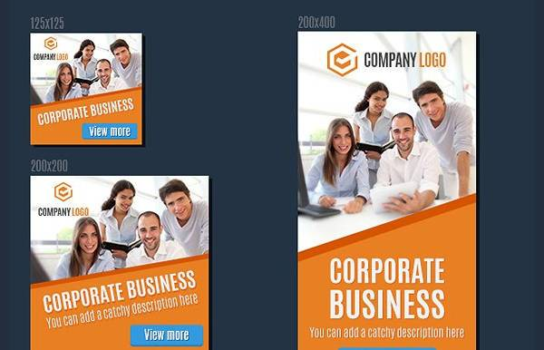 Corporate PSD Banner Ad