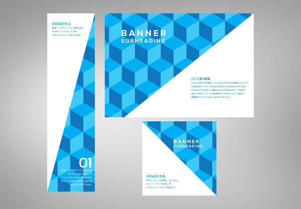 corporate web banner design set