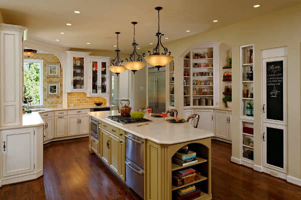 country kitchen lighting design