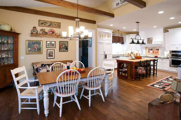 country kitchen table design