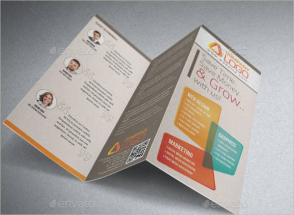 Creative Advertising Agency Trifold Brochure