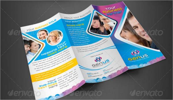Creative Clean Tri-Fold Business Brochure