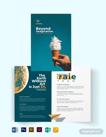 creative company profile bi fold brochure template