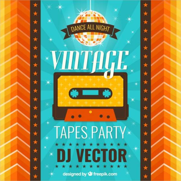 Creative Vintage Party Poster
