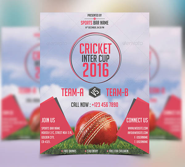 Cricket Tournament Sports Flyer