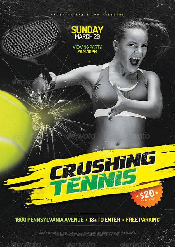 crushing tennis flyer
