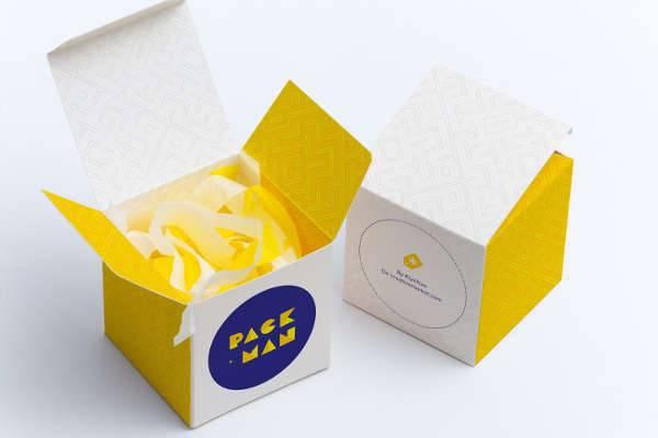 Cube Gift Box Mockup