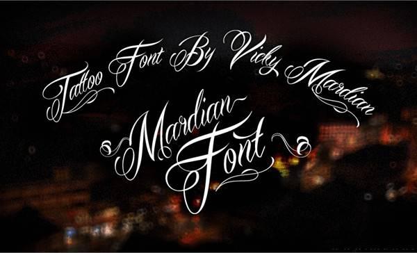 Cursive Calligraphy Tattoo Font