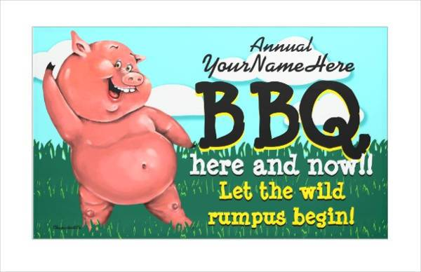 Custom Barbecue Party Banner
