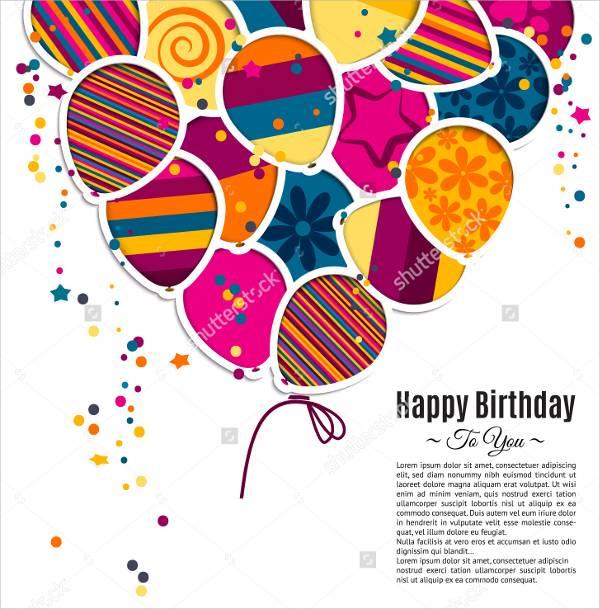 custom birthday message card