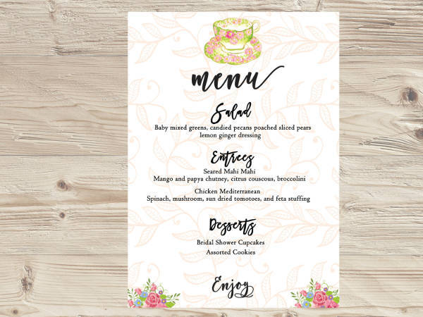 custom tea party menu1