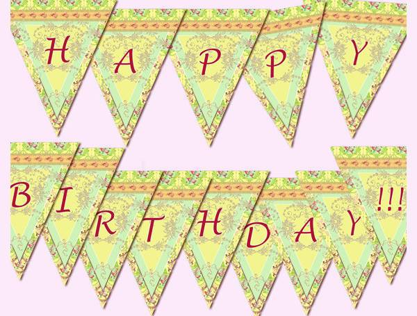 digital birthday banner