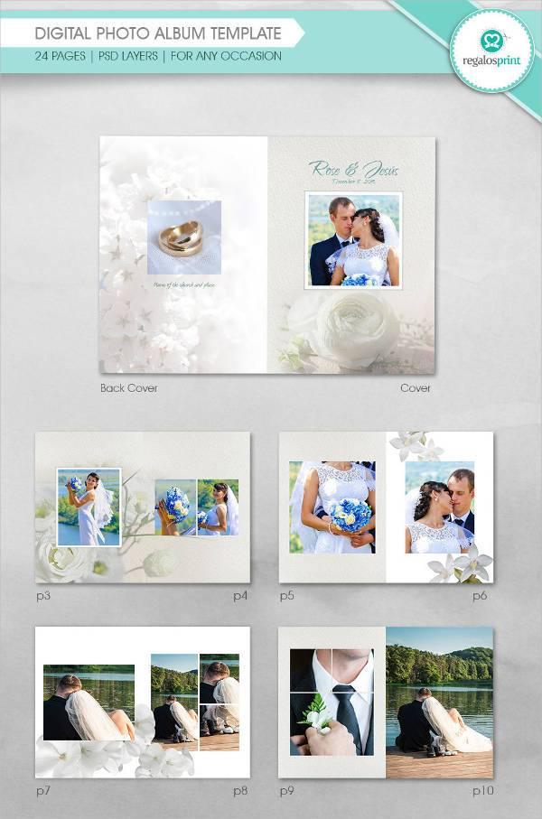 digital photo album psd