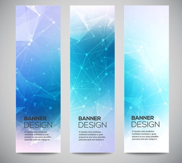 Digital Vertical Banner Set