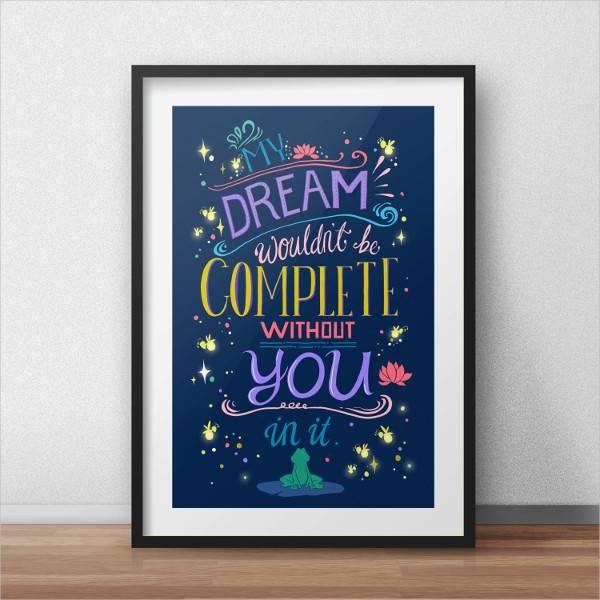 disney princess quote poster