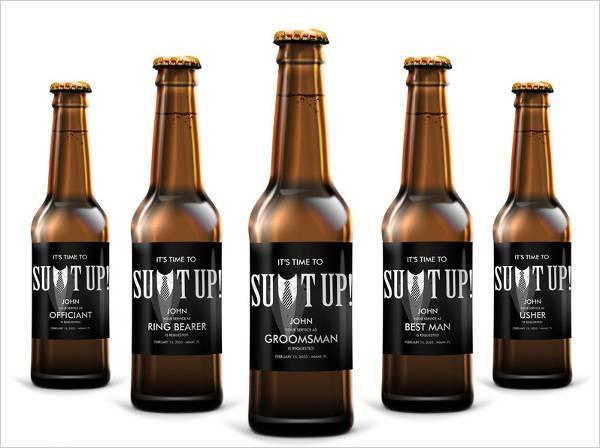 diy beer bottle label